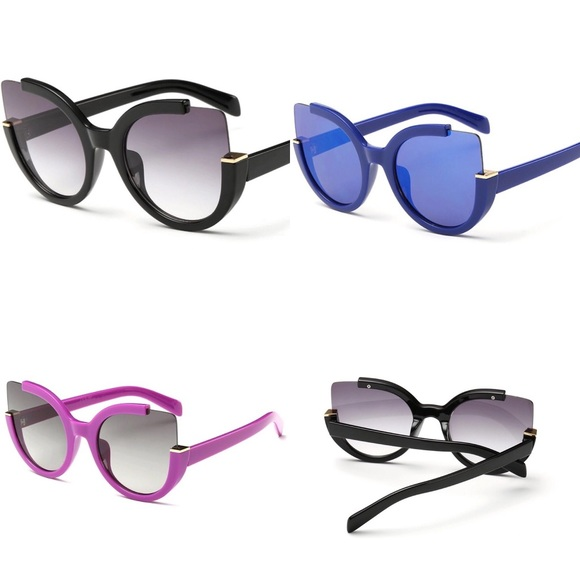 20ebb9d736 80% off Accessories Cat Eye Sunglasses Purplebluewine Redblack ...